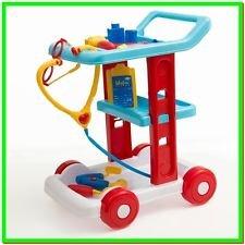 Carrito de Médicos o Enfermeras. set Carro + 11 piezas.