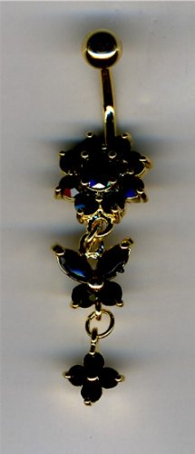 Butterfly Gold Belly Button Ring - 7