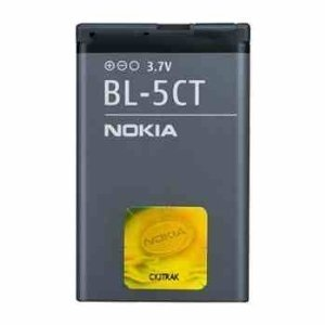 6303 Classic Mobile (ORIGINAL NOKIA BATTERY NOKIA BL-5CT / BL5CT Li-Ion 1050 mAh 3.7 V FOR 5220 XpressMusic / 5630 XpressMusic / 6303 classic / 6303i classic / 6730 classic / C3-01 Touch and Type / C5 / C6-01)