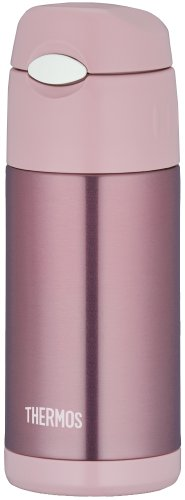 Thermos Vacuum Insulation Straw Bottle [One-touch Open Type] 0.36l Pearl Pink Ffi-401 Prp by Thermos