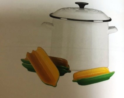 Le Creuset of America Enamel-on-Steel Sweet Corn Stockpot Set, 12 quart, White by Le Creuset