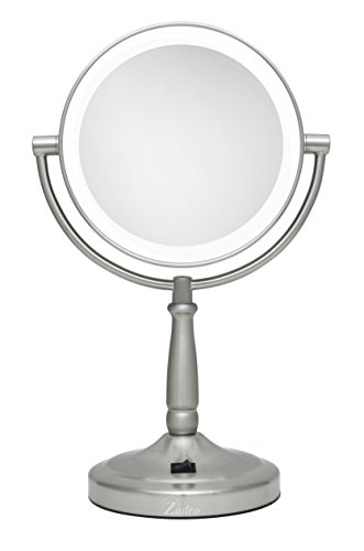 - Zadro 10X/1X Magnification Dual-Sided Vanity Mirror, Satin Nickel