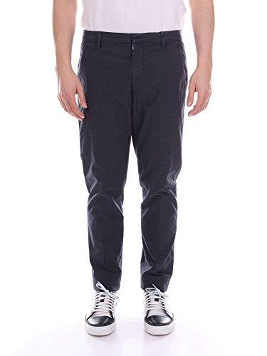 Bleu Dondup Up235fs146uvptdblue Homme Coton Pantalon qq01E4w