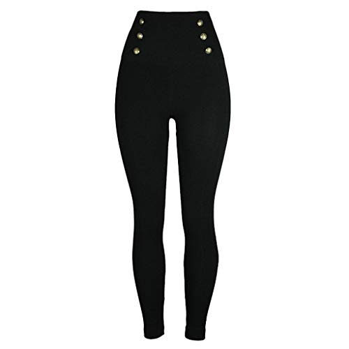 BBesty Save 15% Women's Casual Slim Solid Color Bottom Leggings High ElasticHip-up Fitness Yoga Pants (Casual Slim Color)