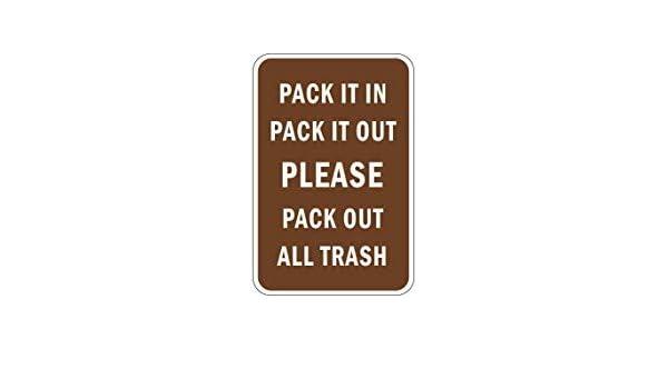 Kysd43Mill Pack It in Pack It out - Señal de Advertencia de Metal ...