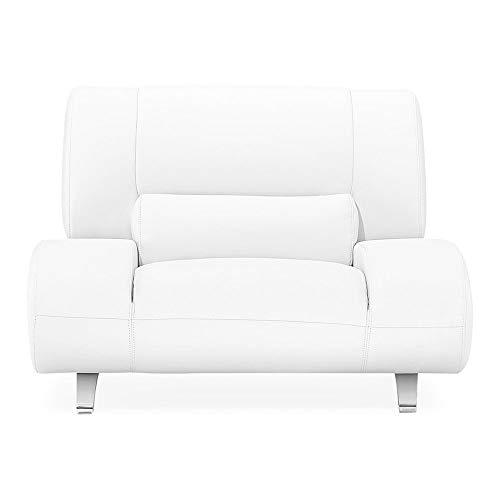 Zuri Furniture Modern Aspen White Microfiber Leather Chair