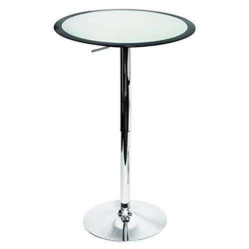 LumiSource BT-TW BK Ribbon Bar Contemporary Table, Silver/Black