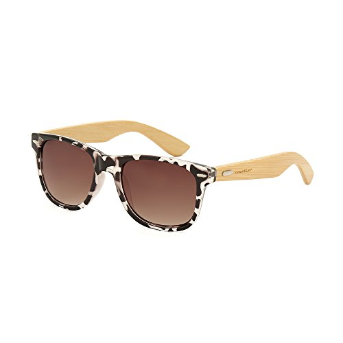 Sunny&Love Unisex Bamboo Wood Arms Classic - Vogue Cheap Sunglasses