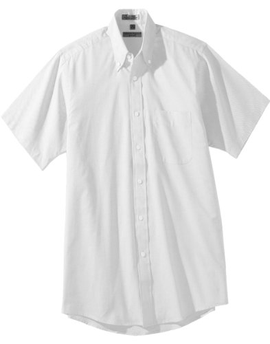 Edwards Men's Short Sleeve Pinpoint Oxford Shirt, WHITE, Large ()