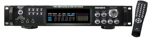 Pyle P3001AT 3000W Hybrid Pre Amplifier with AM/FM Tuner by Pyle (Image #1)