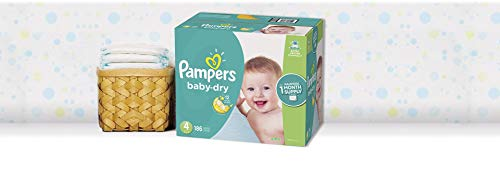 Large Product Image of Pampers Baby Dry Disposable Baby Diapers, Size 4, 186 Count, ONE MONTH SUPPLY