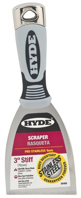 5 Pack Hyde 06408 3'' Stiff Pro Stainless Scraper by Hyde Tools