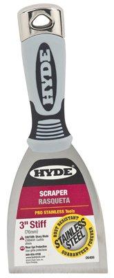 5 Pack Hyde 06408 3'' Stiff Pro Stainless Scraper