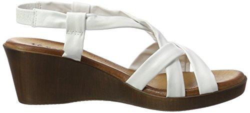 Té Rosso Sandalia Cuña Planta de Gel 000501 Blanco - - Mujer Blanco