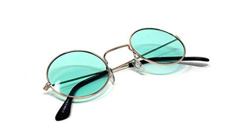 Verdes Lennon Adultes Lunettes Unisexe Elton John Con Qualité Rondes Lentes Vintage Retro Classique Hommes Oro Style Petit UV400 Femmes Soleil de rr5Rqw8