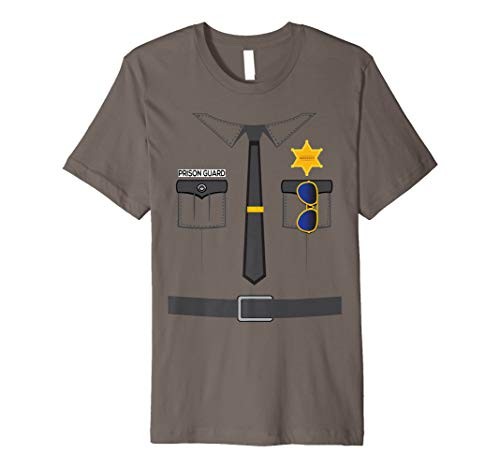 Prison Guard Correctional Officer Easy Halloween Costume Fun Premium T-Shirt -
