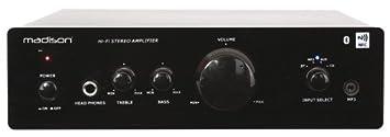 Madison MAD1000 - Amplificador Hi-Fi (con estéreo, Bluetooth y NFC 2 x