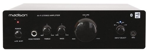 Madison MAD1000 - Amplificador Hi-Fi (con estéreo, Bluetooth y NFC 2 x 50 W): Amazon.es: Instrumentos musicales