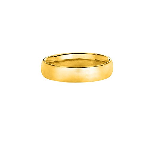 14k Yellow Gold Size 7 4mm Polish Finish Ring by Diamond Sphere