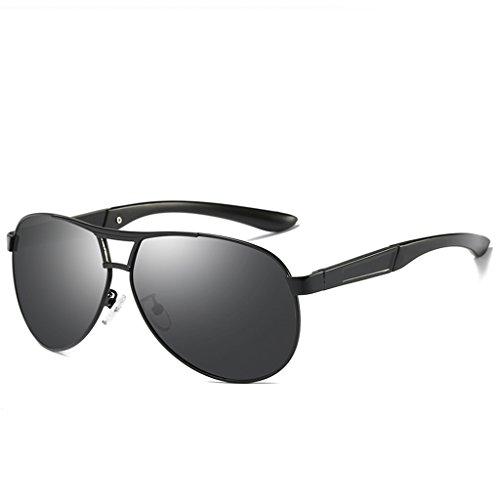 ec5ad8e202 LUOMON Aviator Sunglasses for Men with 63mm Lens Polarized Classic Glasses  LM069