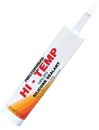 - Rectorseal 57500 10.1-Ounce Hi-Temp 100-Percent Rtv Silicone Sealant