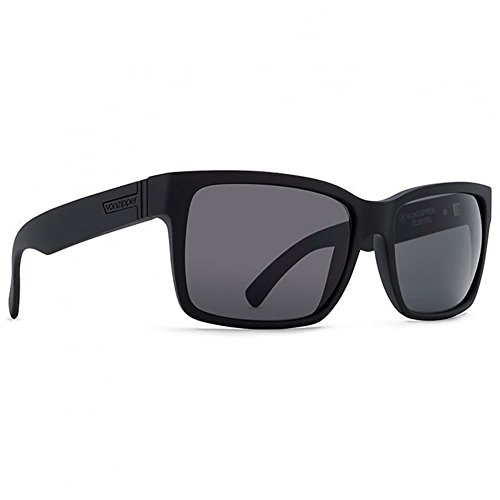 Von Zipper Elmore Black Satin Grey Sunglasses SMRFJELM - Sunglasses Zipper Von Elmore