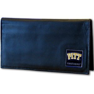 Siskiyou NCAA Pittsburgh Panthers Leather Checkbook Cover (Pittsburgh Leather Panthers)