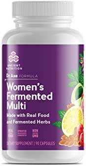 Ancient Nutrition Women's Multivitamin Supplement, Made with Real Food and Fermented Herbs, Hormonal Health, Energy, Digestive Support, 90 Capsules