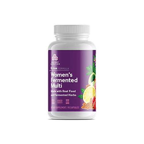 Ancient Nutrition Women s Multivitamin Supplement, Made with Real Food and Fermented Herbs, Hormonal Health, Energy, Digestive Support, 90 Capsules