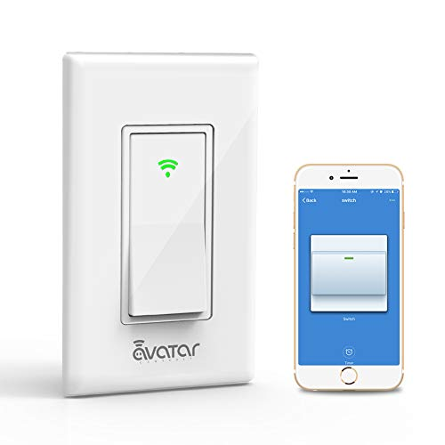 Smart Light Switch, Alexa/Google Home Compatible, WiFi Light Switch Timer, Easy In-Wall Installation, Smart Life APP Remote Control Lighting from Anywhere, No Hub Required- Avatar Controls