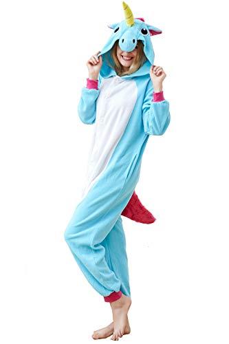 Halloween Unisex Unicorn Onesie Pajamas Animal Costume Sleepwear for Adults and Teen (XL-for Height 71