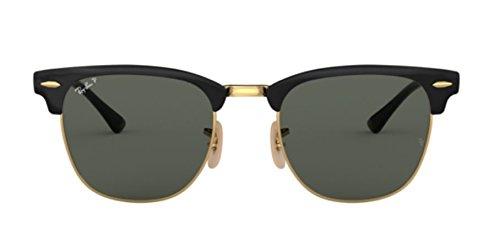 Ray-Ban Metal Unisex Polarized Square Sunglasses, Gold Top Black, 51 mm