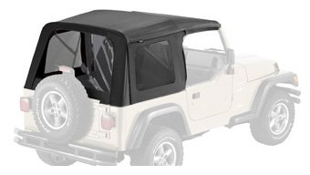 Bestop 55629-15 Black Denim Supertop Replacement Skins w/ Tinted Windows for 1997-2006 Wrangler (except Unlimited) (Replacement Supertop Skin)