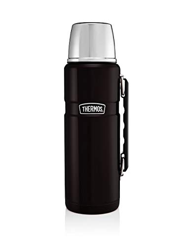 Thermos Stainless King Flask, Matt Black, 1.2 L