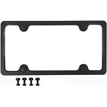Amazon.com: Custom Accessories 92502 Sport License Plate Frame with ...