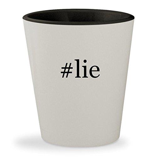 #lie - Hashtag White Outer & Black Inner Ceramic 1.5oz Shot - Glasses 2 Chainz No