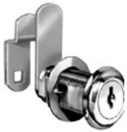 "National Cabinet Lock C8060-14A-KA Cam Lock, 1-3/4"" Cylinder Length, Bright Nickel Finish - Keyed Alike"