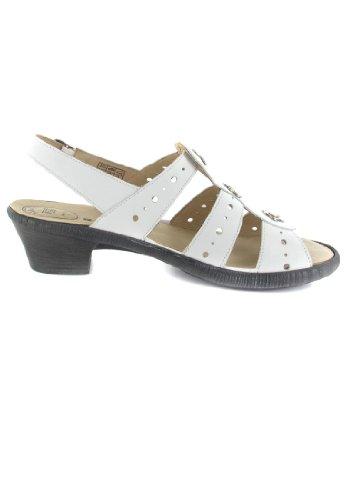 741dc49963 ... SALE - ROMIKA - Hanna 03 - Damen Sandalen - Weiß Schuhe in Übergrößen