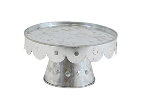 (Large Galvanized Scalloped Cake Stand)