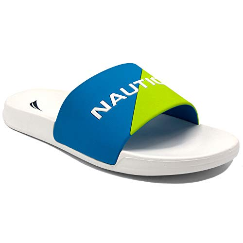 Nautica Men's Stono Athletic Slide Comfort Sandal-Stono 4-Lime/White-13