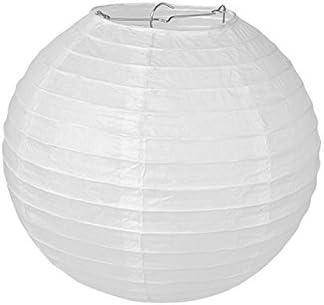 Pajoma Plafonnier en papier Blanc Papier Weiss 25 x 25 cm E10