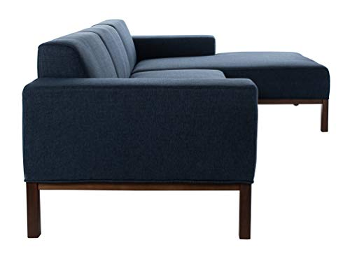 Living Room Safavieh Couture Home Dove Mid-Century Modern Dark Blue and Dark Brown Sectional modern sofas and couches