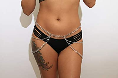 Sexy Silver Waist Chain Belt Thigh Jewelry for Women | Hip Jewelry Side Pant Chain Belt Fashion Accessory