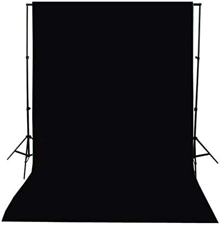 خلفية تصوير قماشية بتصميم غير محبوك لون اسود 1.5 × 3 متر 5 × 10 قدم