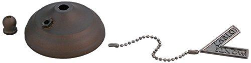 Bronze Finish Bowl Caps - Monte Carlo MC83RB Pull Chain Type Bowl Cap Kit, Roman Bronze