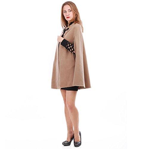 La Modeuse - Abrigo - para mujer marrón claro
