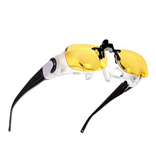 ElectroOptix 5X Head-Mounted Glasses Magnifying Glass, HD Fishing Telescope Fishing Night Fishing Magnifying Glass, 4 Sets of Optical Lenses can Adjust The Focal Length