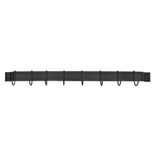 "Gourmet Bar 30.5"" Wall Mounted Pot Rack Finish: Black Powder Coated Steel"