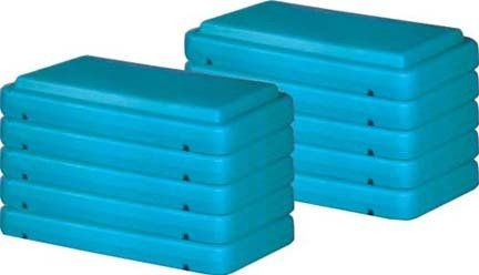 4'' Green Fitness Step (Pack of 10) by Olympia Sports