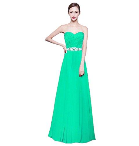 Long Chiffon Bridesmaid Sweetheart Beauty Sleeveless Women's BessWedding A Dress 6HfOSnw